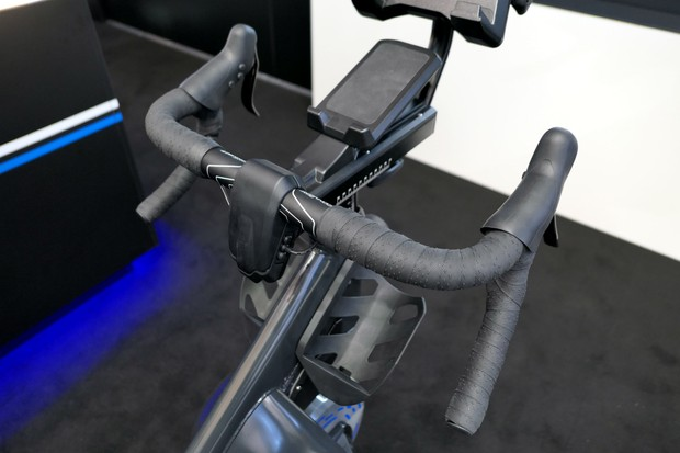 Indoor training bike bar setup
