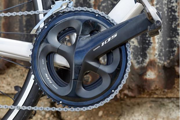 Shimano drivetrain on road bike