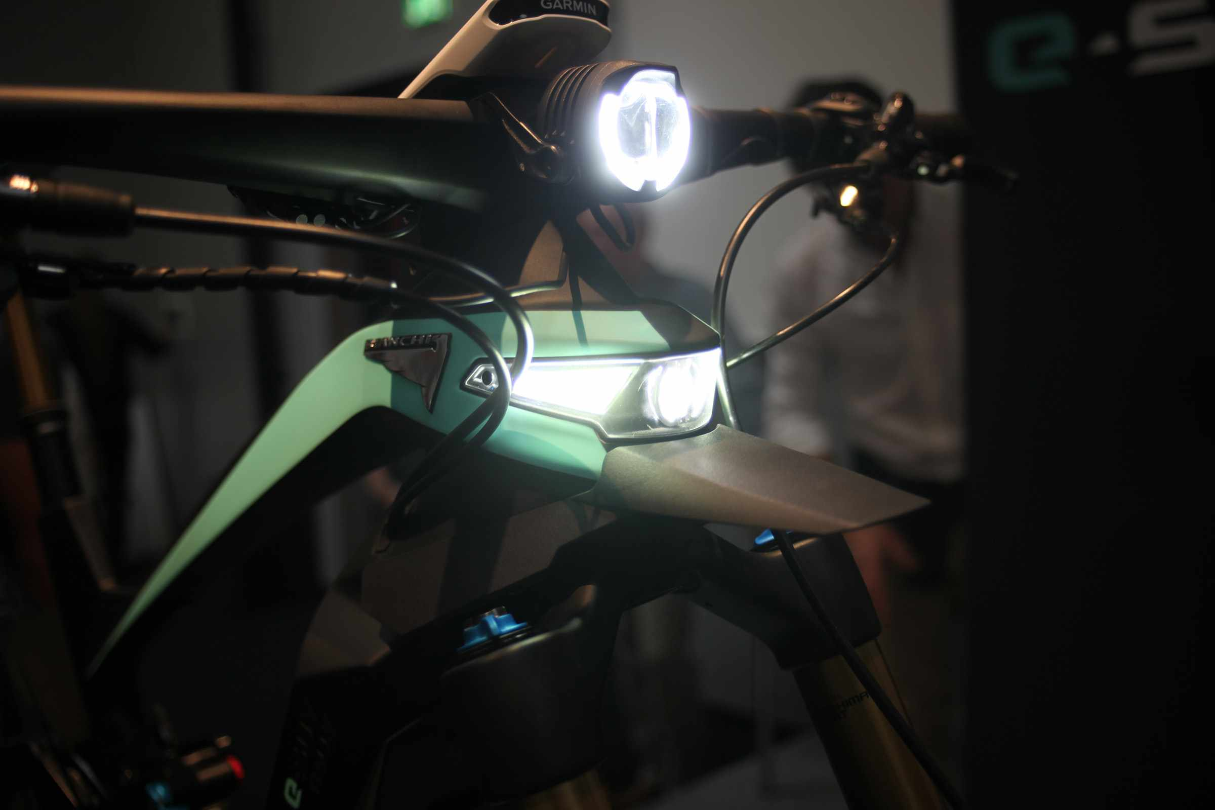 Light built into e-MTB