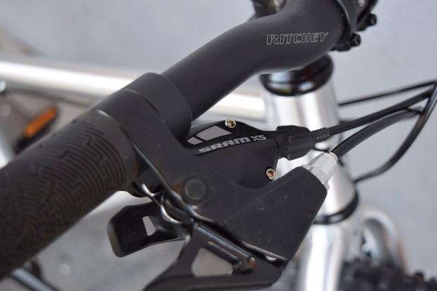 Shift lever on child's bike