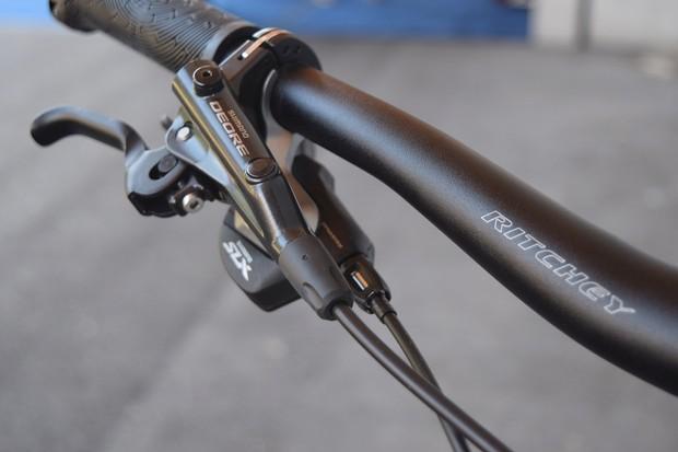brake lever on child's MTB
