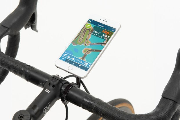 Steering is controlled via the Zwift Companion app.