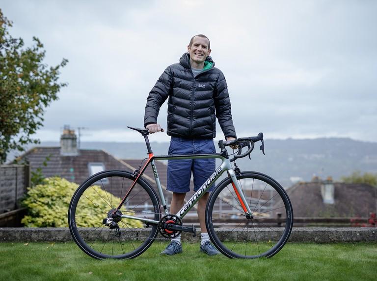 The British men's hill climb champion's crazy lightweight Cannondale SuperSix EVO