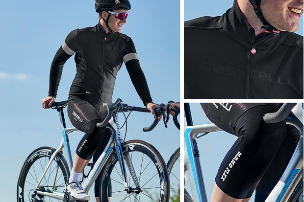 autumn outfit - jersey, bib short and knee warmers from Castelli