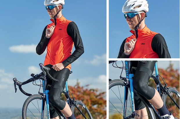 autumn outfit - jersey, bib short and knee warmers from DHB