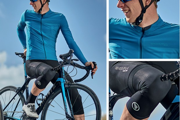 autumn outfit - jersey, bib short and knee warmers from Endura