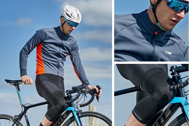 autumn outfit - jersey, bib short and knee warmers from Giro