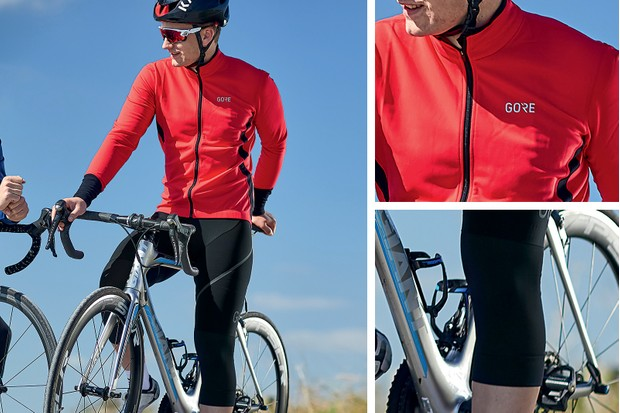 autumn outfit - jersey, bib short and knee warmers from Gore