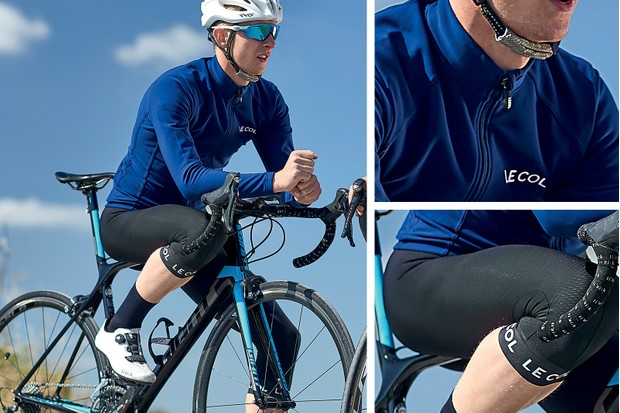 autumn outfit - jersey, bib short and knee warmers from Le Col