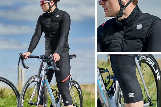 autumn outfit - jersey, bib short and knee warmers from Sportful