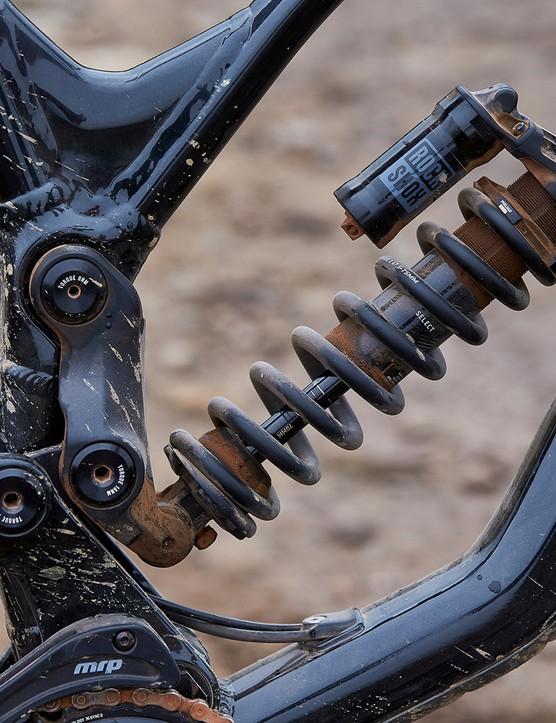 RockShox Super Deluxe Select Coil rear suspension on mountain bike