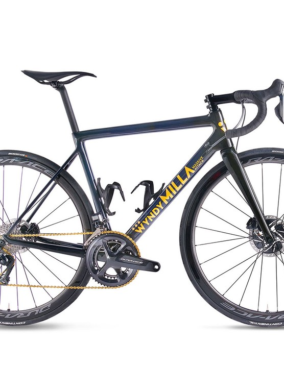 blue grey road disc bike