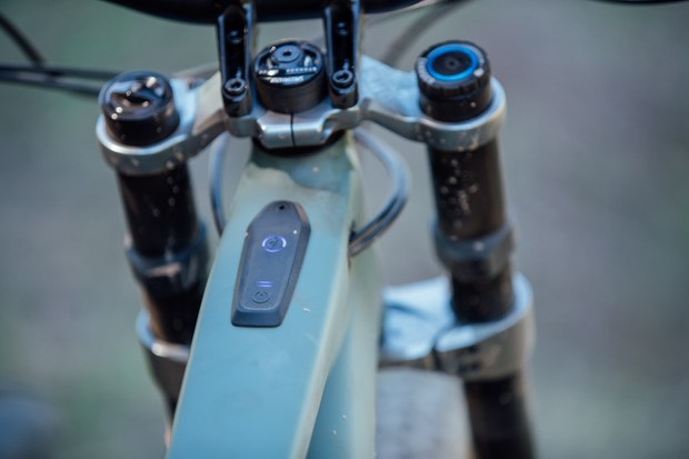 The Specialized Kenevo's on/off button