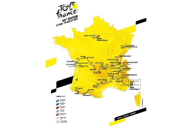 2020 Tour de France route map