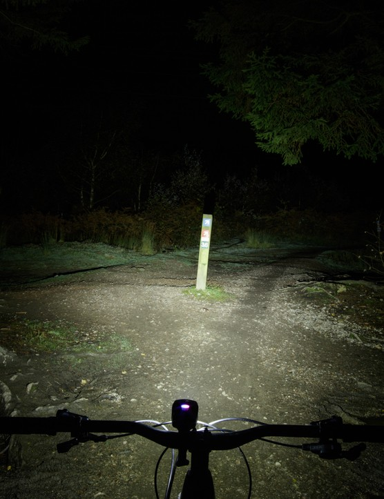 NiteRider Lumina Dual 1800 bicycle light beam pattern