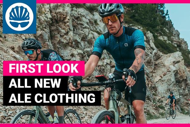 Cyclist on bike wearing new Ale 2020 kit