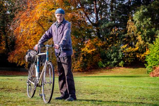 Russ Mantle with his Holdsworth bike