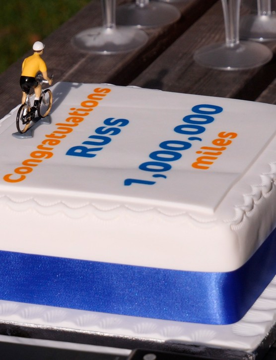 Russ Mantle's special celebration cake