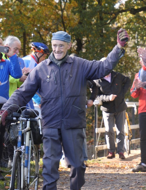 Russ Mantle celebrating his millionth mile
