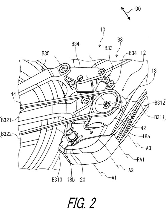 Fig 2 from Patent US 2019 / 0011037 A1