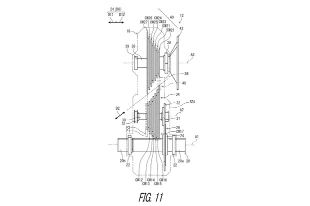 Fig 11 from Patent US 2019 / 0011037 A1