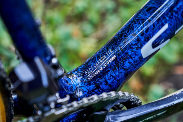 Zdenek Stybar's custom Specialized Crux downtube detail