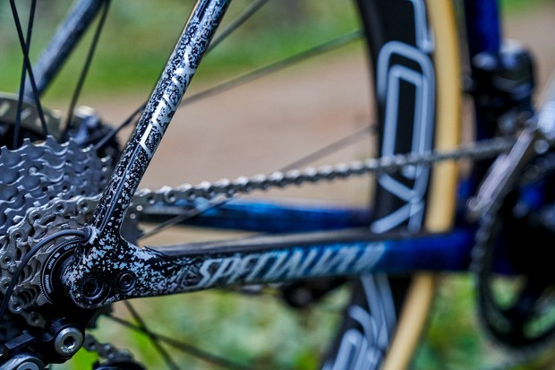 Zdenek Stybar's custom Specialized Crux seatstay detail