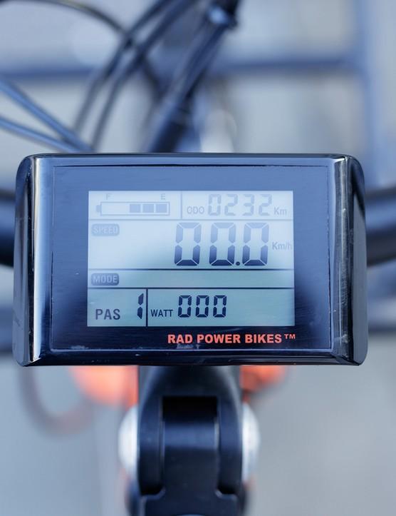 Data display for the electric RadWagon cargo bike
