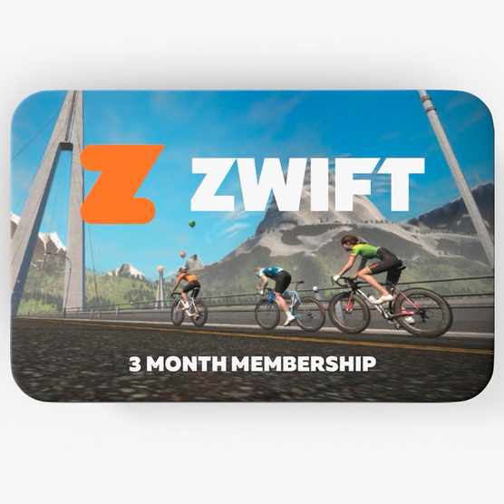 Zwift sells gift cards for 3- or 12-month subscriptions.