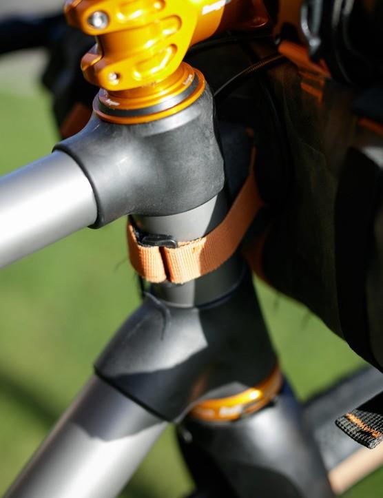 Caminade AllRoad Titanium gravel bike headtube