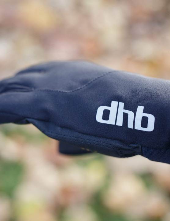 dhb logo on side of glove