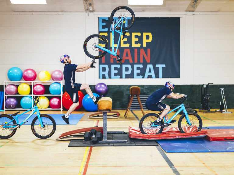 Danny MacAskill's gym workout is absolutely not like yours