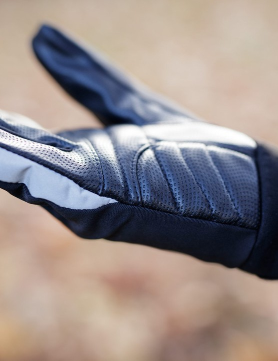 Outer edge of glove
