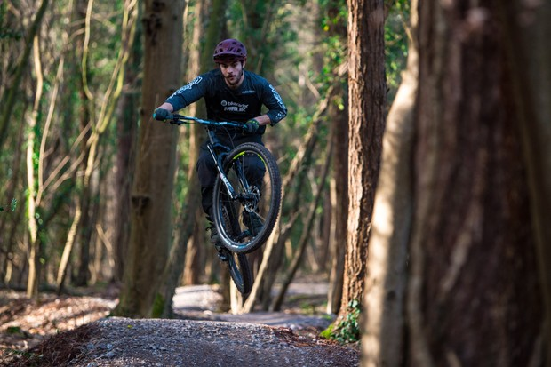 Max riding a Saracen Zenith Elite LSL hardtail mountain bike