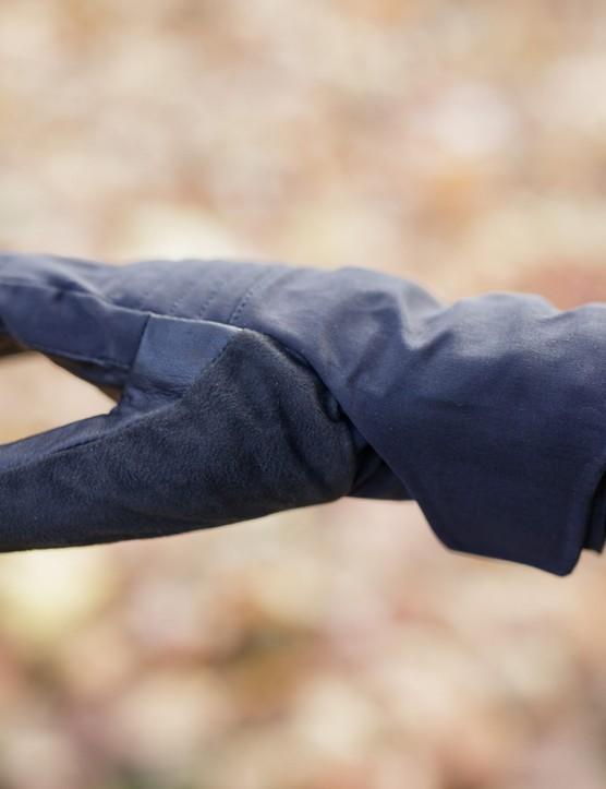 Thumb area of glove