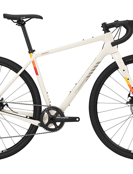 Pack shot of Salsa Warbird Apex 1 gravel bike in white