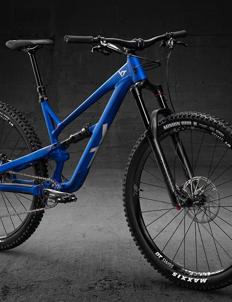 Pack shot of full suspension aluminium mountain bike from YT Industries