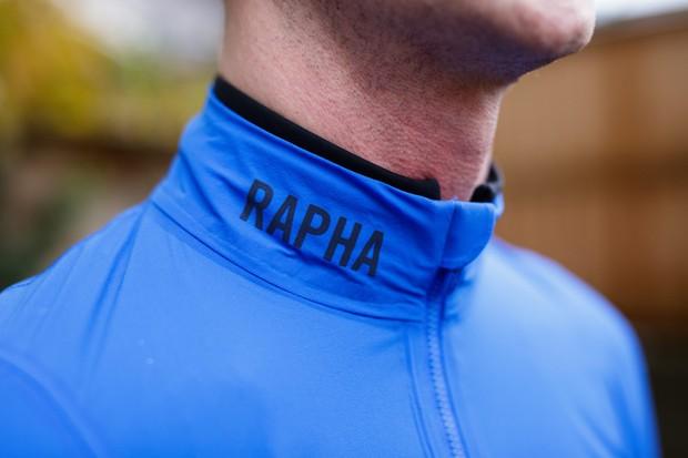 Rapha Pro Team Lightweight Shadow jacket collar detail