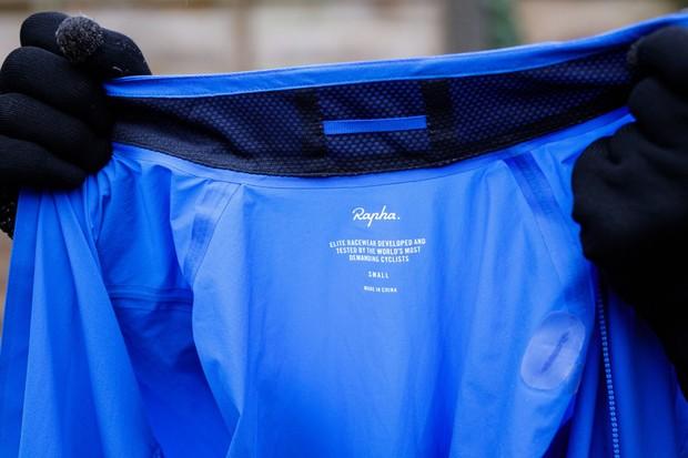 Rapha Pro Team Lightweight Shadow jacket inside collar