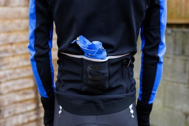 Rapha Pro Team Lightweight Shadow Jacket in pocket