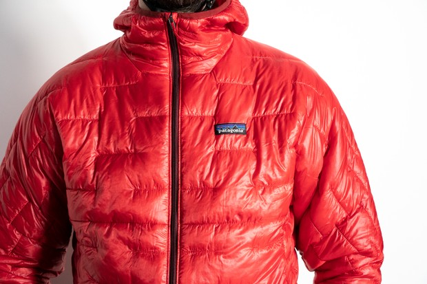 Patagonia Micro Puff Hoody worn by male