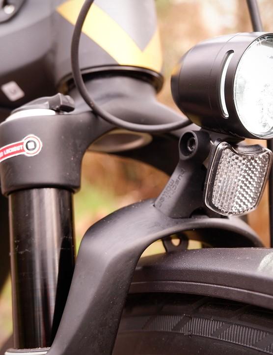 Front light on the Bergamont E-Horizon Expert 600 Gent