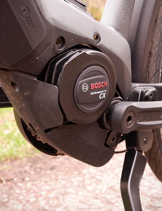 Bosch's CX Performance motor on a Bergamont electric commuter bike