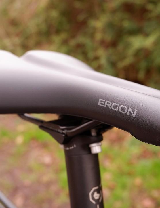 Ergon ST10 saddle sits on a BGM Pro post