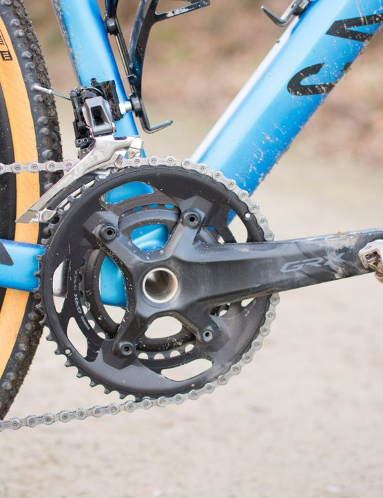 GRX crank and front derailleur on Grail CF SL