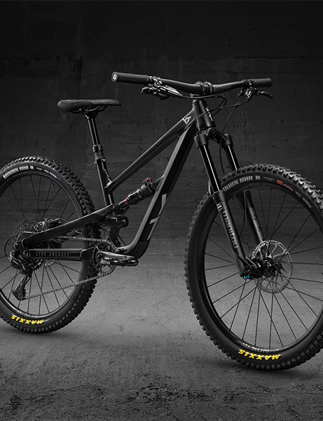 Full suspension black mountain bike from YT for children