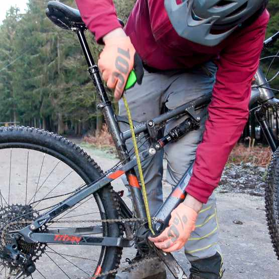 simple mountain bike setup, setting saddle height