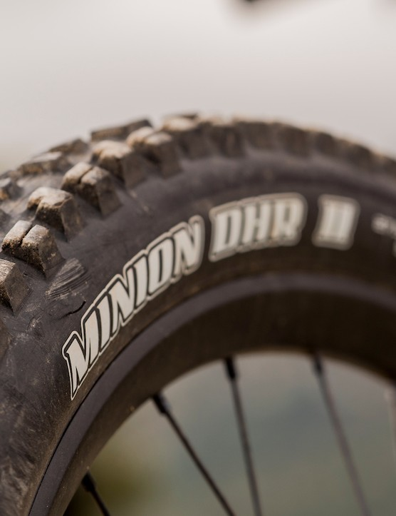 Maxxis Minion tyres on the Bird Aether 7