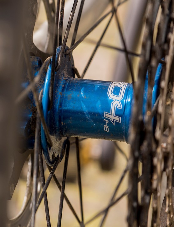 Hope Pro4 hubs on the Bird Aether 7 full suspension mountain bike