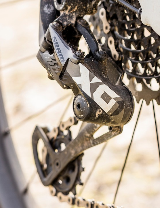 SRAM X01 Eagle transmission on full suspension mountain bike